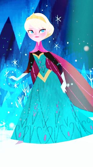 イラスト かわいい アナ雪アナと雪の女王 スマホ壁紙 待ち受け背景