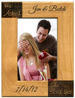 He Asked She Said Yes Engagement Frame