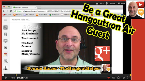 How to be a great HOA (Hangouts on Air) Guest - Executive Overview