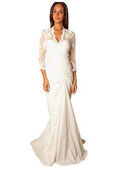 tadashi shoji taffeta twist bodice bridal gown belk