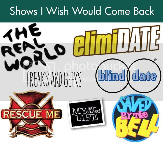 shows i wish would come back 30 days of lists