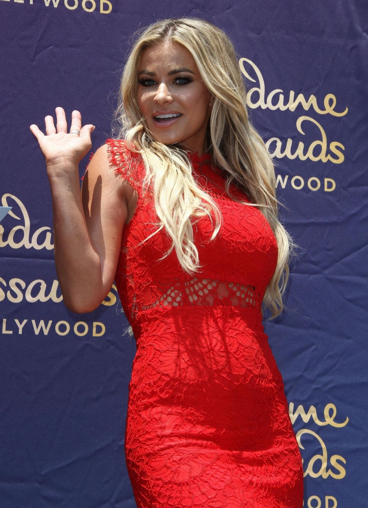 CARMEN ELECTRA at Zac Efron Wax Figure Unveiling at Madame Tussauds in Hollywood 07/12/2017