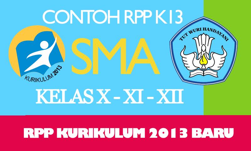Contoh RPP Kurikulum 2013 SMA