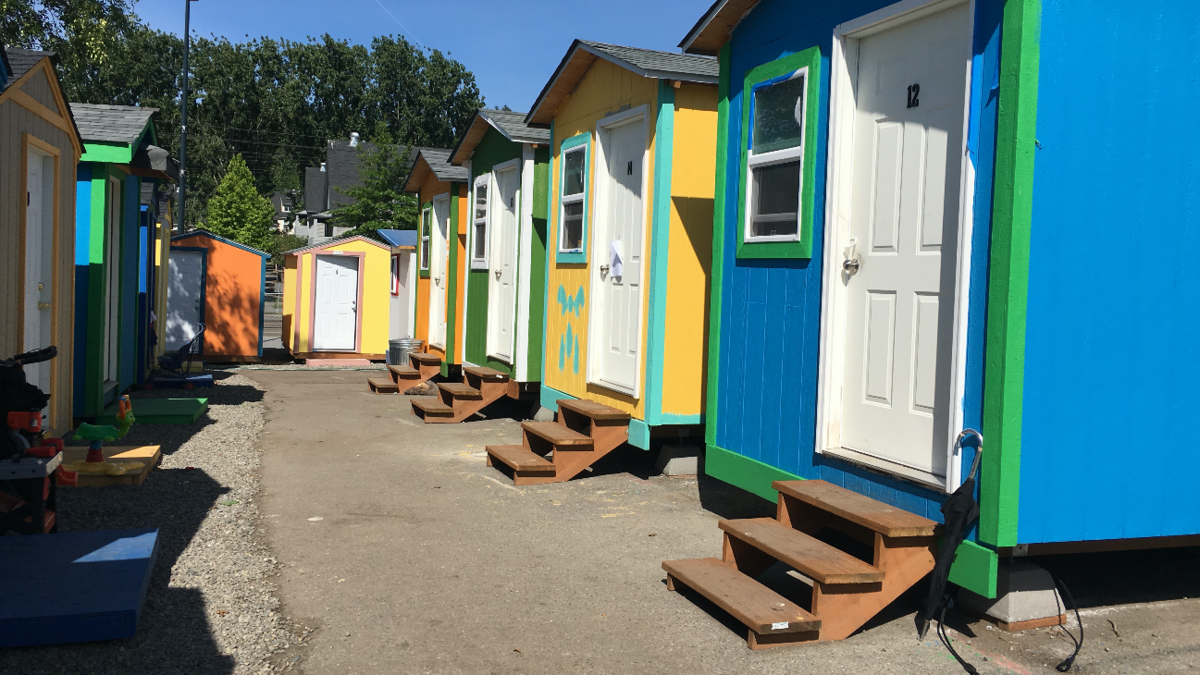 Billionaire issues grant to build tiny houses, showers, bathrooms