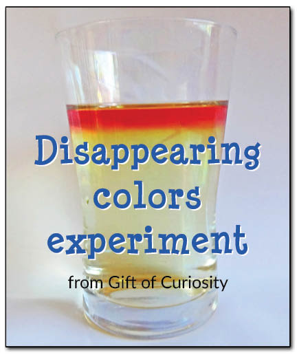 Disappearing colors experiment - kids will think it's magic, but grown ups know it's really just science! #handsonlearning #magicalscience || Gift of Curiosity