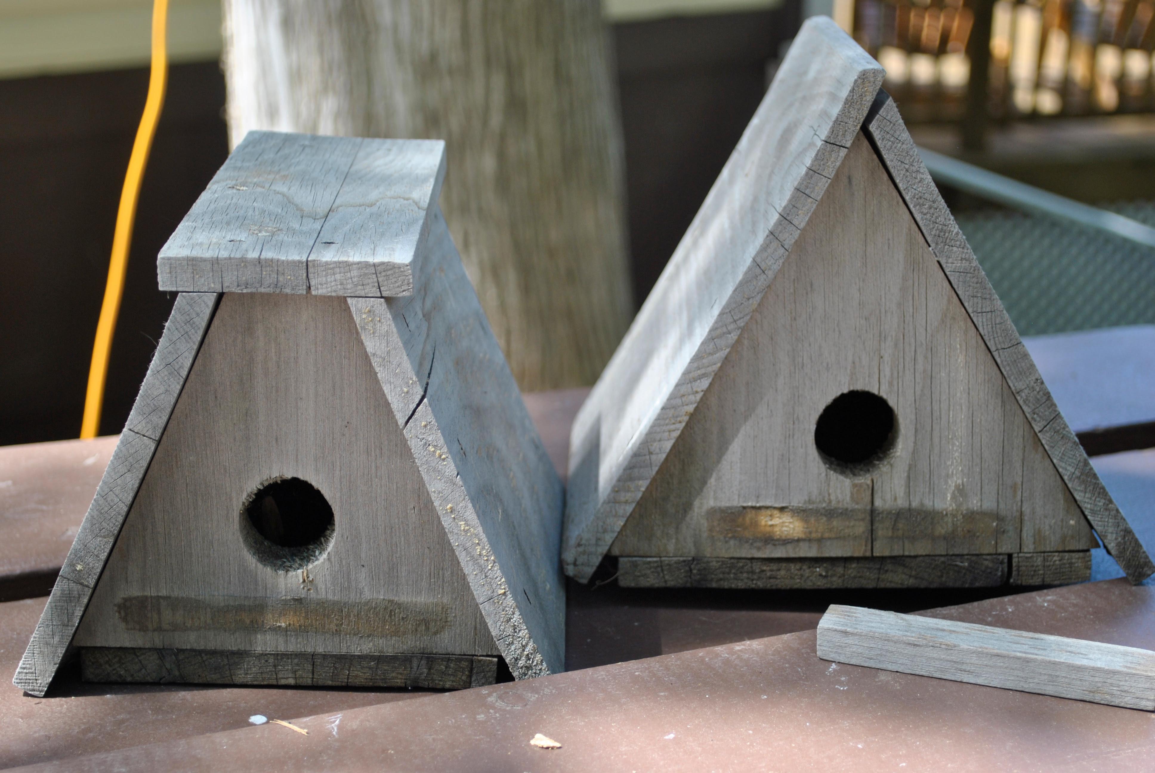 DIY Triangular Bird House  Plans PDF Download stackable