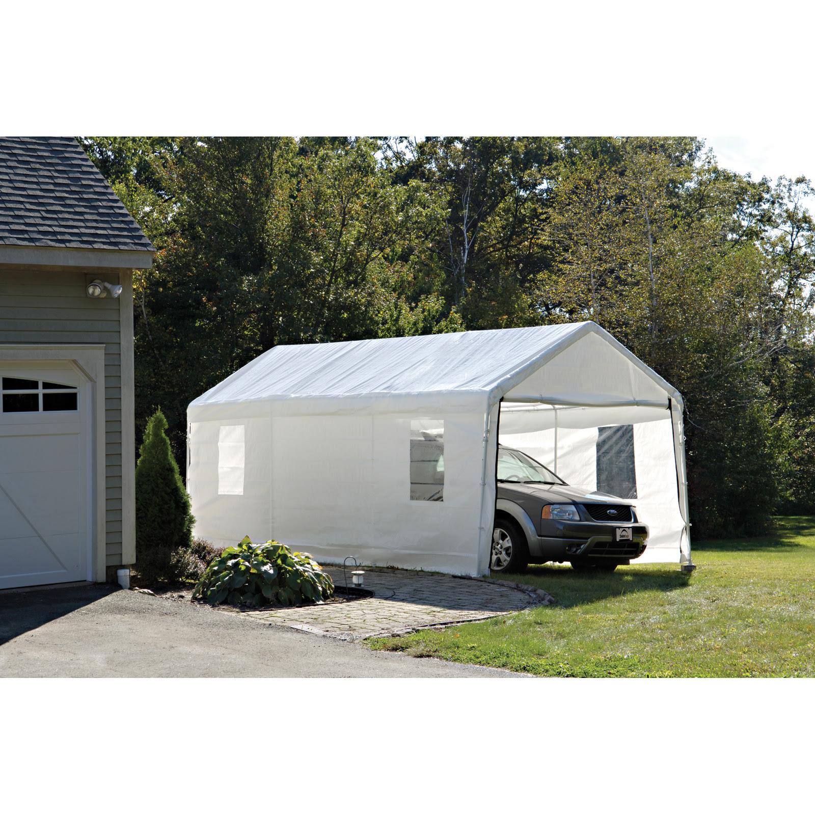 Carport Tent 10x20 & 10u0027 X 20u0027 Outdoor Carport ...