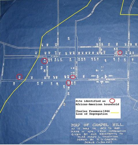 Chapel Hill Housing Segregation Map