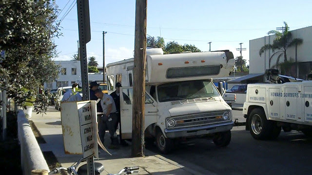 An earlier attempt to tow Eric's RV