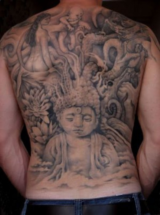 Or if ya are thinking of getting a really big kick ass buddha tattoo then