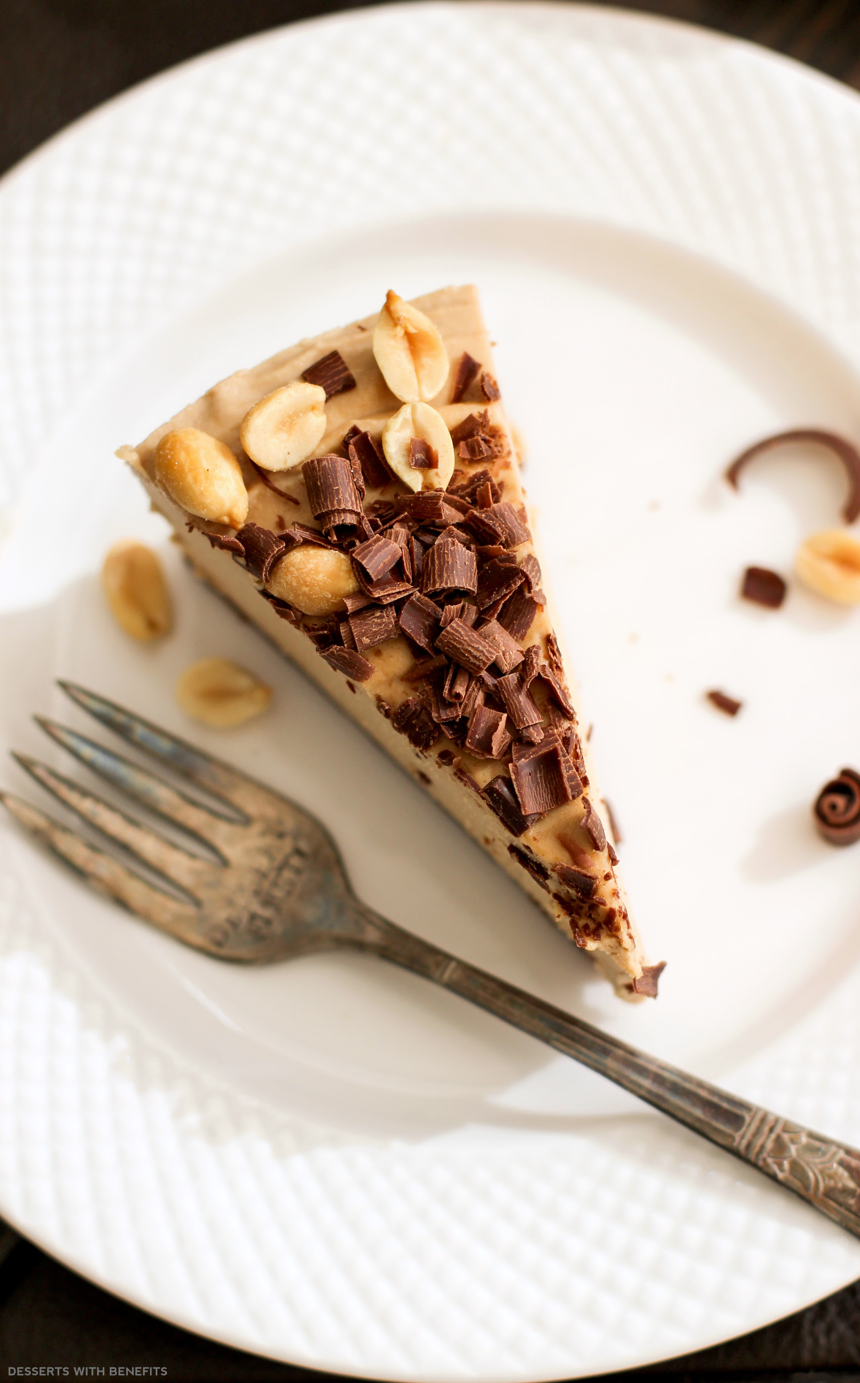 Healthy Chocolate Peanut Butter Raw Cheesecake (vegan, low ...