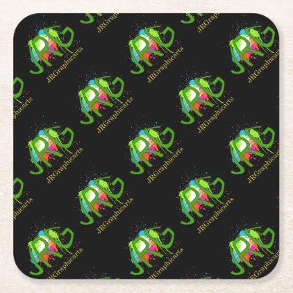JRGraphicarts Square Paper Coaster
