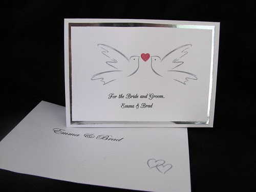 Wedding card & envelope