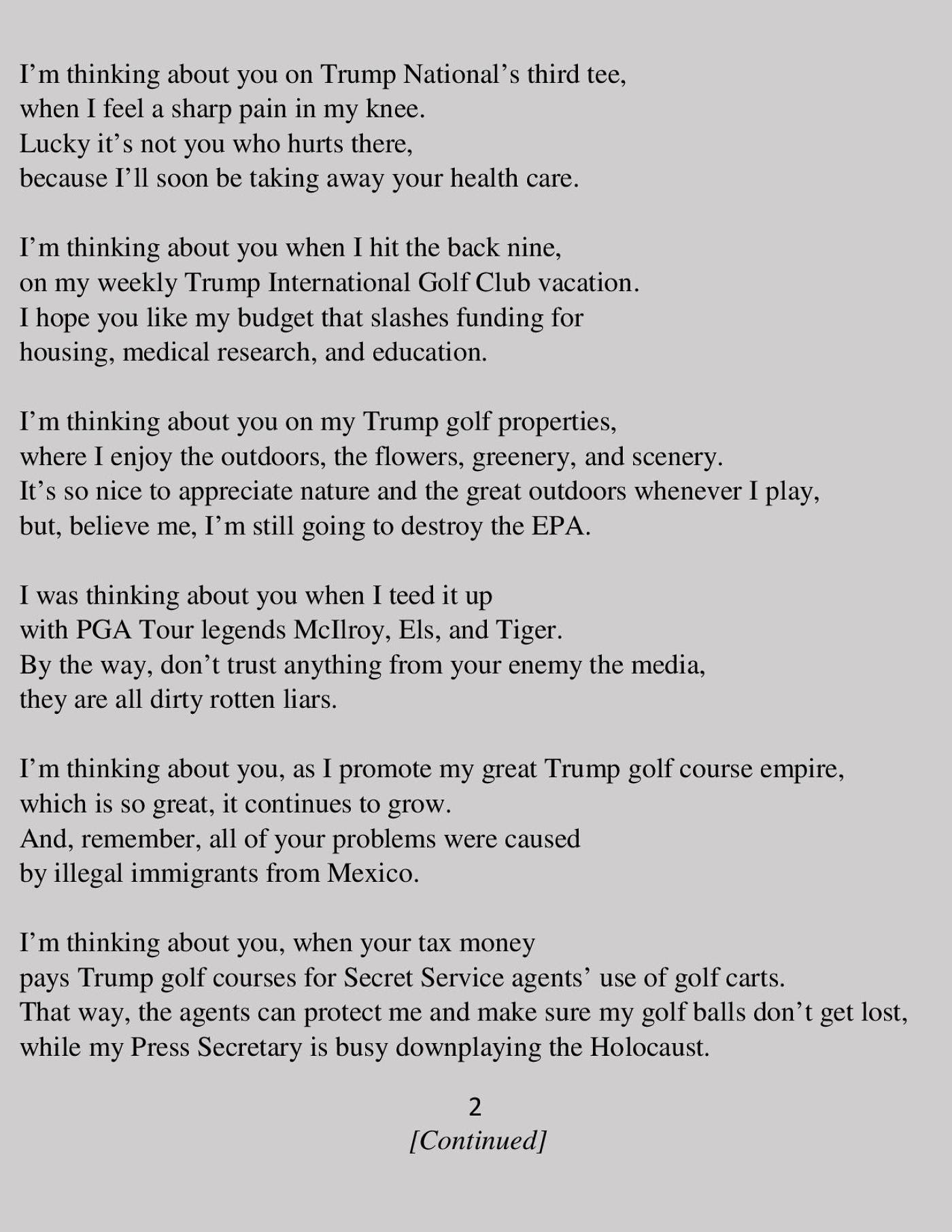 Ode To The Forgotten Men And Women A Poem By Donald J Trump Lgf