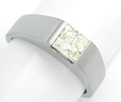 Foto 1, Solitärring 1,03ct Princess-Cut, Handarbeit Luxus! Neu!, S8488