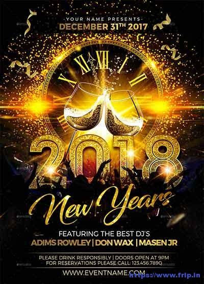 75 Best New Year Flyer Print Templates 2019   Frip.in