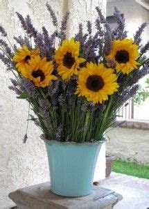 sunflowers and lavender..love these two together.   Great