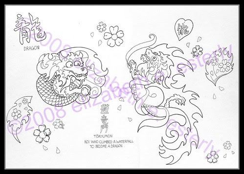 Tattoo Flash: Elizabeth (Set) · Illustration (Group)