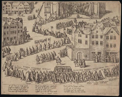 Leichenzug Wilhelms von Oranien in Delft (c 1584)