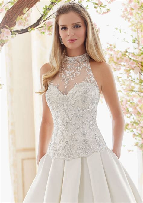 Crystal Beaded and Embroidered Wedding Dress Bodice