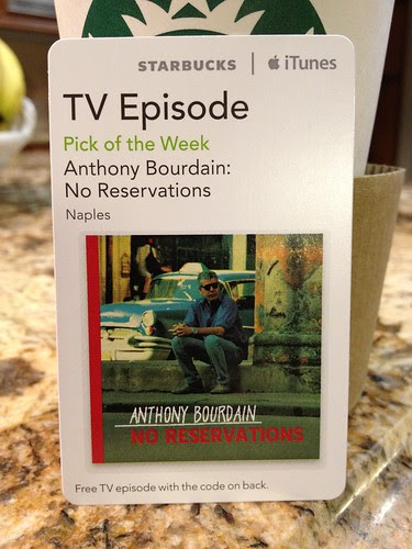 Starbucks iTunes Pick of the Week - Anthony Bourdain: No Reservations Naples