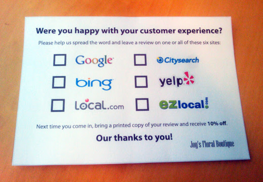 review card