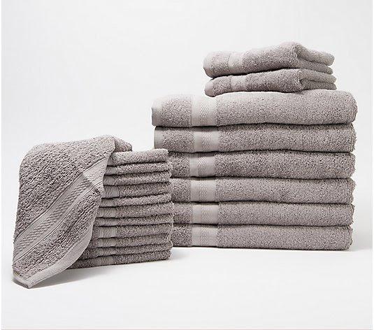 Home Reflections Everyday 20 Piece Towel Set Qvc Com