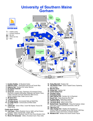Usm Gorham Campus Map University Of Southern Maine Campus Map | Campus Map