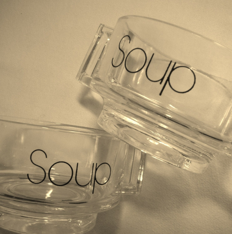 2 Vintage Stackable Italian Soup Bowls