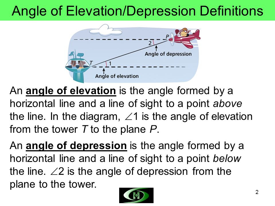Objectives Use trigonometry to solve problems involving angle of elevation and angle of