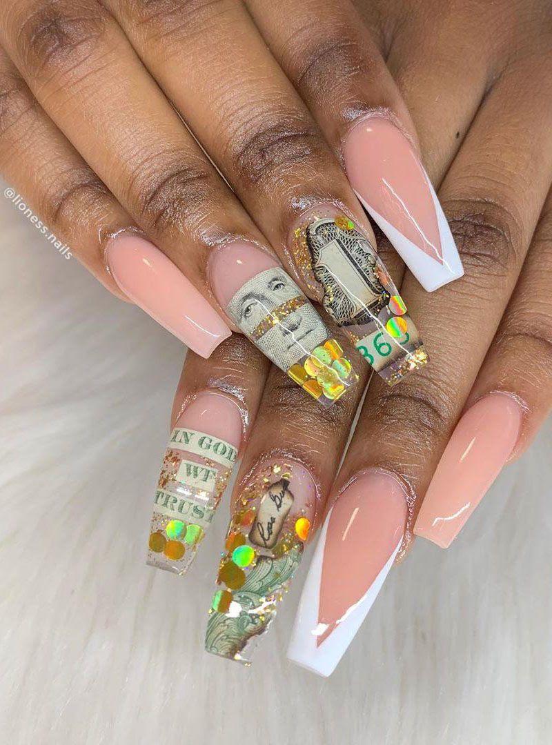 55 Gorgeous Money Nail Art Designs Make You Rich | Style ...