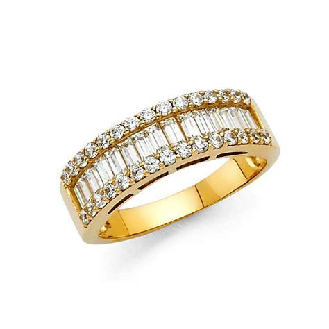 14k Solid Yellow Gold 1.75 Ct Diamond Wedding Band