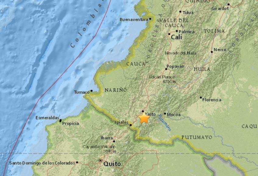 galeras ηφαίστειο, galeras ηφαίστειο Κολομβία, σεισμός σμήνος galeras ηφαίστειο κολομβία, γαλέρα ηφαίστειο ξύπνημα κολομβία june 2018