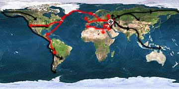 The Kurgan Invasion of North America Map