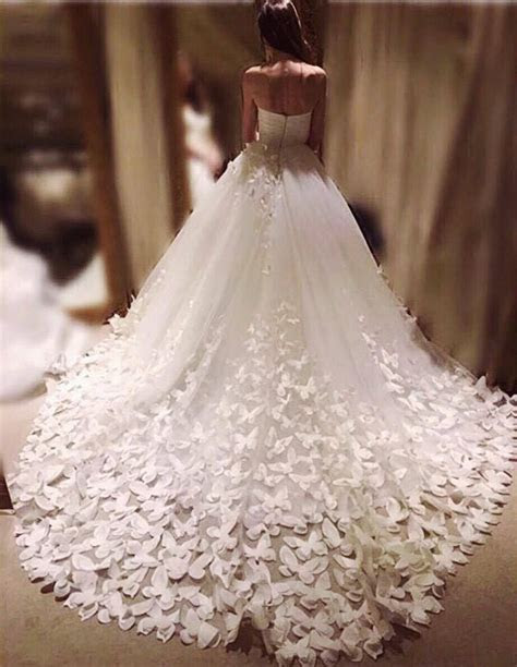 Speranza couture wedding gown dress skirt and train