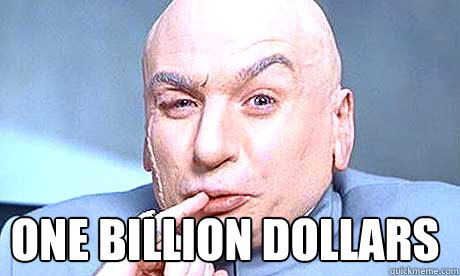Image result for dr evil one billion dollars