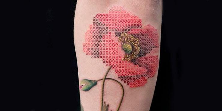 Tatuajes En Punto De Cruz Para Las Chicas Con Gustos Exigentes