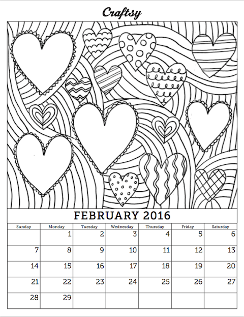 Trends For February Coloring Pages