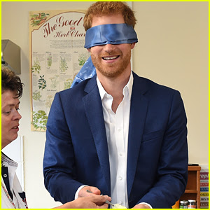Prince Harry Decorates Cupcakes While Blindfolded!