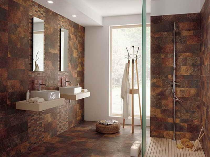 Brown  Bathroom  Floor Tiles  Decor IdeasDecor Ideas