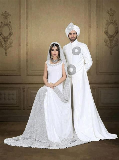 White pakistani wedding dress   Wedding   Pinterest   Sexy