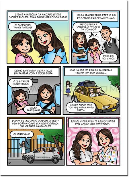 Quadrinhos, história de amizade, by ila fox