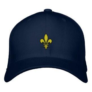Fleur De Lis Embroidered Hat zazzle_embroideredhat