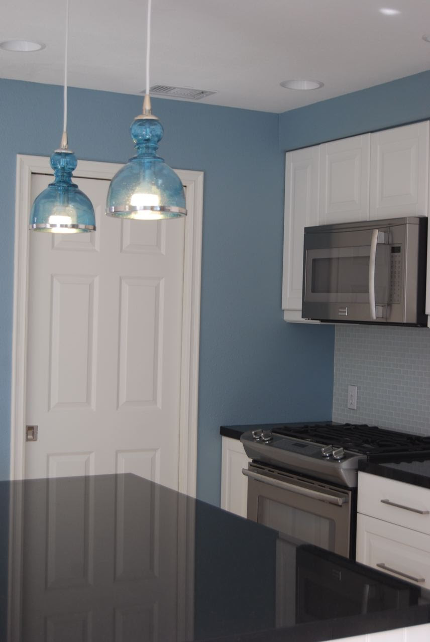 Remodelaholic   Bright and Blue and Beautiful Kitchen Remodel!