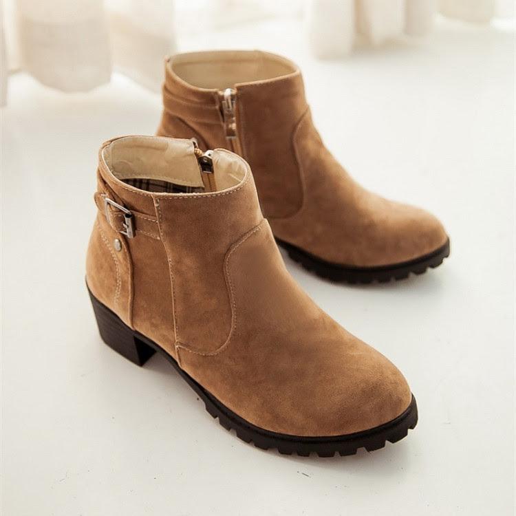 Musim gugur dan musim dingin kasual martin sepatu keling