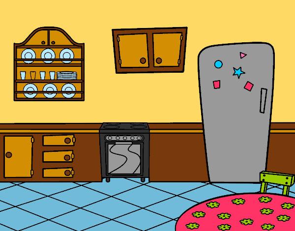 Dibujo De Cocina Office Pintado Por Dianita12 En Dibujosnet El Día