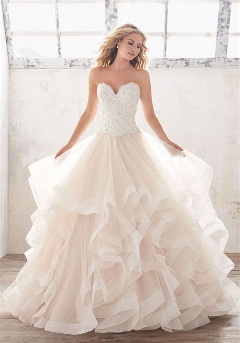 Ruffled Ball Gown  Crystal Beading  Is Perfect For Your