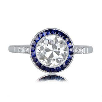 2.01ct Cushion Cut Halo Engagement Ring