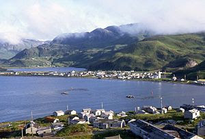English: Unalaska, a sight in 1972 with the co...