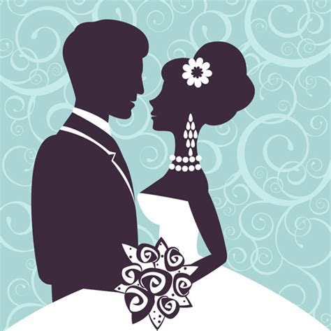 Wedding couple silhouette free vector download (7,493 Free